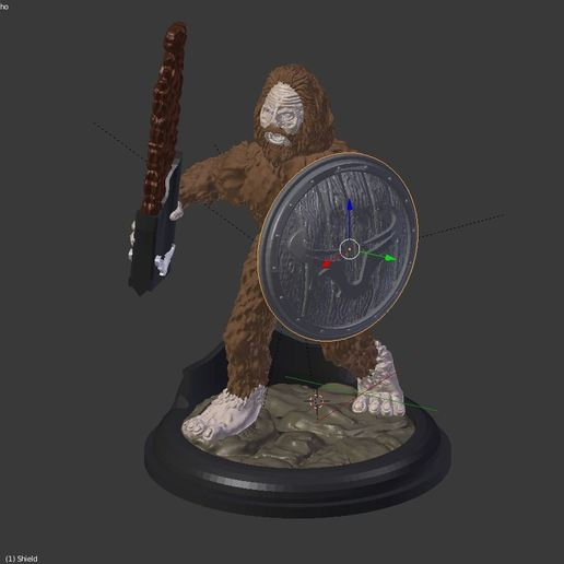 warrio.JPG Download free STL file Sasquatch 28mm Minature • 3D printer design, Mehdals