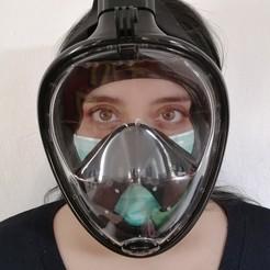 Télécharger fichier impression 3D Adaptateur pour masque de plongée ninja HME 22 mm, alfredo0192