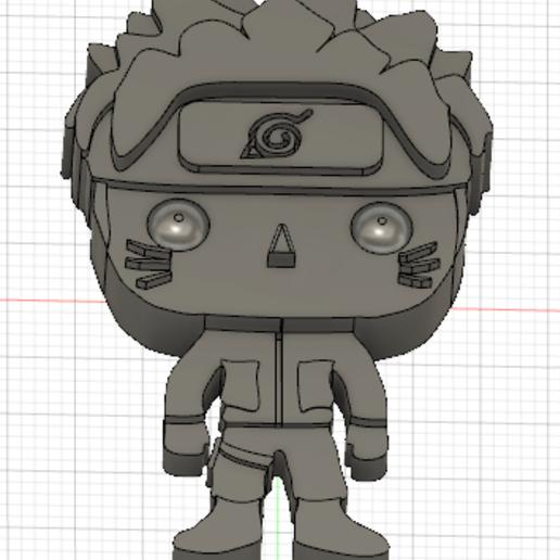 Naruto.PNG Télécharger fichier STL gratuit Naruto 3D imitation Pop (pour aimant) • Objet imprimable en 3D, Flo__ol