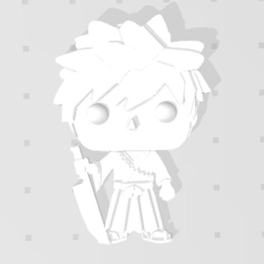 Nouvelle capture.PNG Télécharger fichier STL gratuit Ichigo de Bleach 3D imitation Pop (pour aimant) • Modèle pour impression 3D, Flo__ol