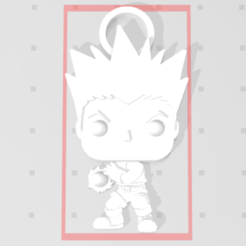 Download free STL file Gon Freecss de Hunter X Hunter 3D imitation Pop keychain • Model to 3D print, Flo__ol