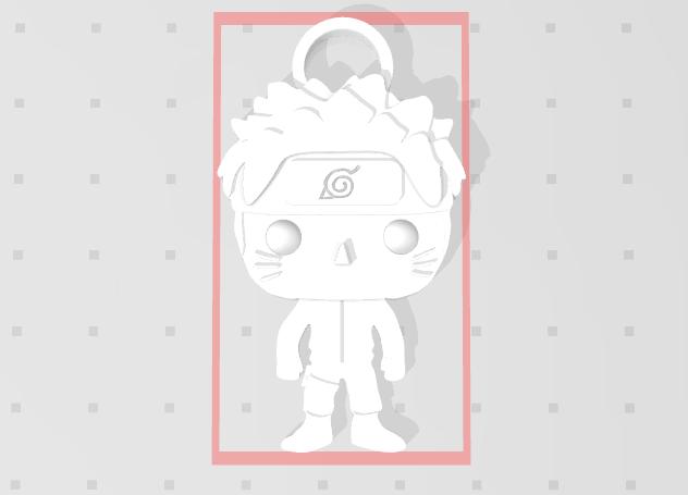 Porte clé.PNG Télécharger fichier STL gratuit Naruto 3D imitation Pop porte-clés • Modèle imprimable en 3D, Flo__ol