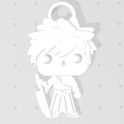 Download free STL file Ichigo by Bleach 3D imitation Pop keychain • 3D printer model, Flo__ol
