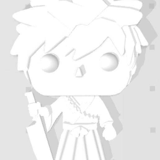 Capture.PNG Télécharger fichier STL gratuit Ichigo de Bleach 3D imitation Pop (pour aimant) • Modèle pour impression 3D, Flo__ol