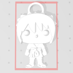 Porte clé.PNG Download free STL file Sasuke of Naruto 3D imitation Pop keychain • 3D printable object, Flo__ol