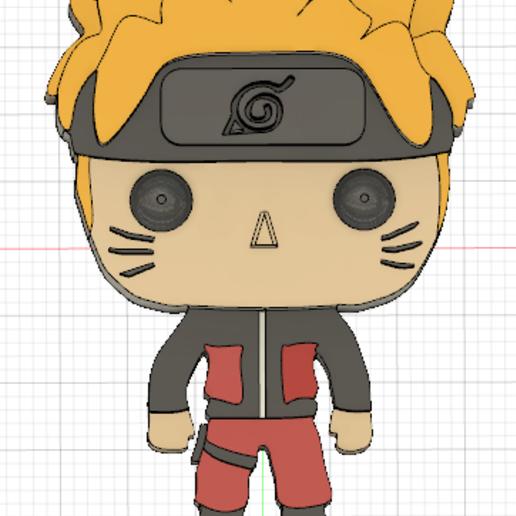 Naruto Couleur.PNG Télécharger fichier STL gratuit Naruto 3D imitation Pop (pour aimant) • Objet imprimable en 3D, Flo__ol