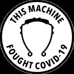 """Descargar diseños 3D gratis El medallón """"Esta máquina luchó contra COVID-19"""", aaronzufall"""