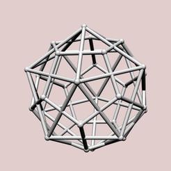 Descargar modelo 3D Pareja de Icosaedro-Dodecaedro, dansmath