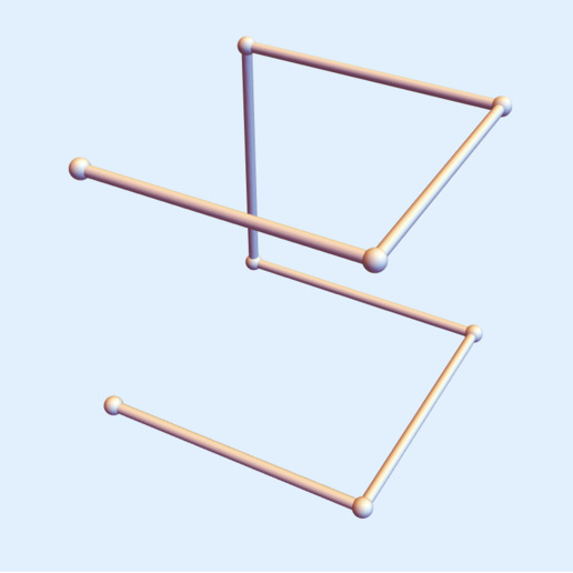 Hilbert Square 1.png Download free STL file Hilbert Square Curve - Level 1 • Template to 3D print, dansmath
