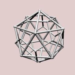 Descargar archivo 3D Icosaedro con doble dodecaedro, dansmath