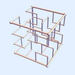 Hilbert Square 12.png Download STL file Hilbert Square Nest 1-2 • Design to 3D print, dansmath