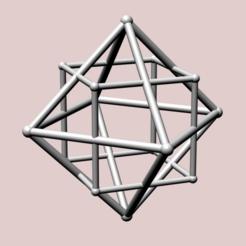 Descargar modelos 3D para imprimir Octaedro con Cubo Dual, dansmath
