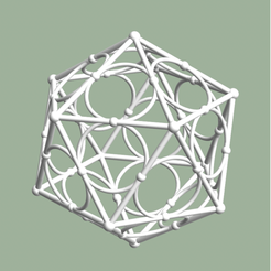 Screen Shot 2020-05-18 at 12.49.02 AM.png Download STL file Icosahedron with Midcircles • 3D printer design, dansmath