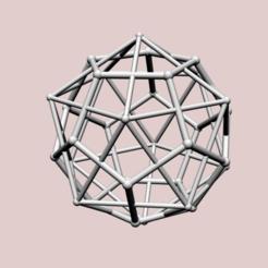 Impresiones 3D Dodecaedro con doble Icosaedro, dansmath