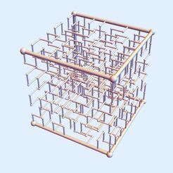 Hilbert Square 13.png Download STL file Hilbert Square Nest 1-3 • 3D print template, dansmath