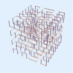 Hilbert Square 3.png Download STL file Hilbert Square Curve - Level 3 • 3D printer object, dansmath