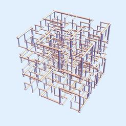 Hilbert Square 23.png Download STL file Hilbert Square Nest 2-3 • 3D printer template, dansmath