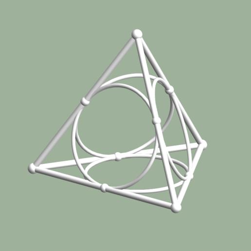 Descargar modelos 3D para imprimir Tetraedro con círculos medios, dansmath