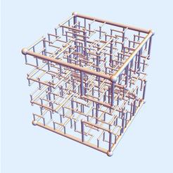 Hilbert Square 123.png Download STL file Hilbert Square Nest 1-2-3 • 3D print design, dansmath