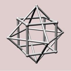 Descargar modelos 3D para imprimir Cubo con doble octaedro, dansmath
