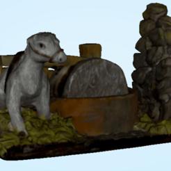 Descargar diseños 3D Burro y molino, PimpMyPrint