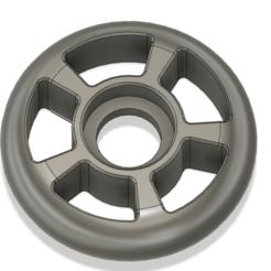 63mm inline roller.png Télécharger fichier STL Roue à rouleaux en ligne de 63 mm mpcnc • Modèle imprimable en 3D, PimpMyPrint