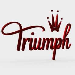 Download 3D printing templates triumph logo, PolyArt