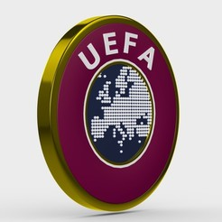 56.jpg Download 3DS file uefa logo • 3D printing model, PolyArt
