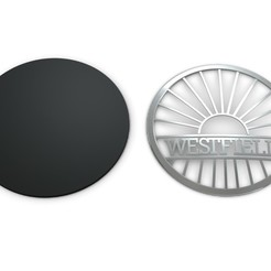 1.jpg Download 3DS file westfield logo • 3D printing template, PolyArt