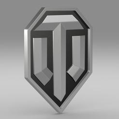 Download STL file world of tanks logo, PolyArt