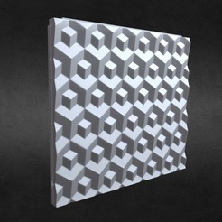 1.jpg Download 3DS file 3d wall panel 4 • Object to 3D print, PolyArt