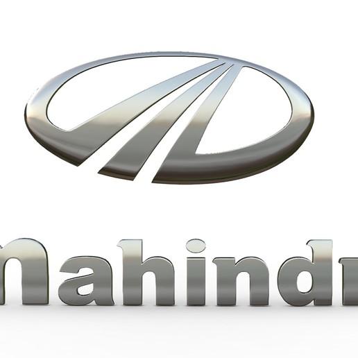 Download 3D-printontwerpen mahindra-logo, PolyArt