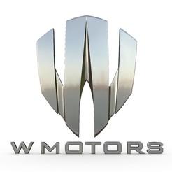 Descargar STL logo de w motors, PolyArt