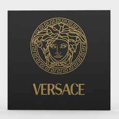 Download 3D printer files versace logo 2, PolyArt