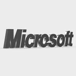 Descargar modelos 3D logo de microsoft, PolyArt