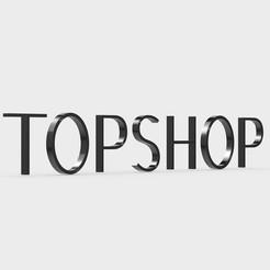 Download 3D model topshop logo, PolyArt