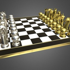 Download 3D model chess set 2, PolyArt