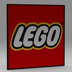Télécharger fichier STL Logo Lego, PolyArt