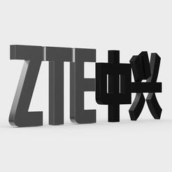 Impresiones 3D logo de zte, PolyArt