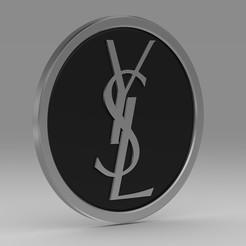 Download STL files YSL logo , PolyArt
