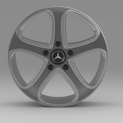 2.jpg Download 3DS file rim Mercedes-Benz • 3D printing template, PolyArt
