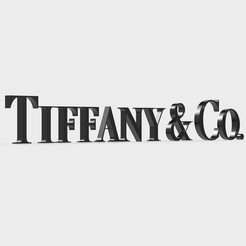Download 3D model tiffany logo, PolyArt