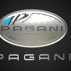 Imprimir en 3D logo de pagani, PolyArt