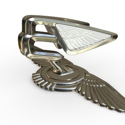 1.jpg Download 3DS file bentley hood ornament 6 • Object to 3D print, PolyArt