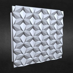 1.jpg Download 3DS file 3d wall panel 1 • 3D printer object, PolyArt