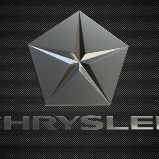 Download 3D printer designs chrysler logo 2, PolyArt