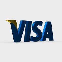 101.jpeg Download 3DS file visa logo • 3D print model, PolyArt