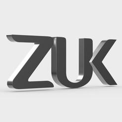 Descargar archivos STL logo de zuk, PolyArt