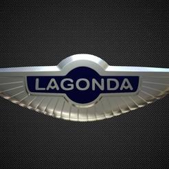 Download STL lagonda logo, PolyArt