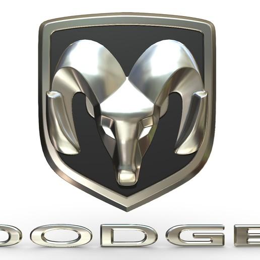 Download 3D printing files dodge logo 2, PolyArt